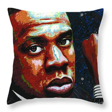 I Am Jay Z Throw Pillow by Maria Arango
