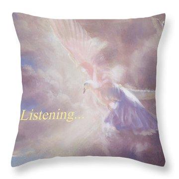 I Am Listening Throw Pillow