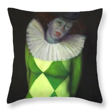 Throw Pillow featuring the painting I Am by Marlene Book