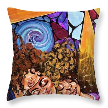 I Am My Sisters Keeper Throw Pillow