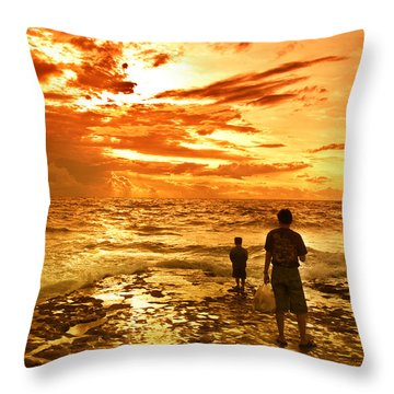 I Am Not Alone Throw Pillow by Charuhas Images
