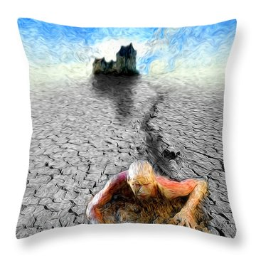 I Am Not My Past Throw Pillow by Robby Donaghey