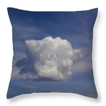 I Am One Cloud Affirmation Throw Pillow by Deborah Moen