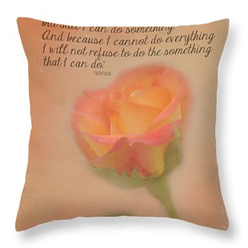 I Am Only One Throw Pillow