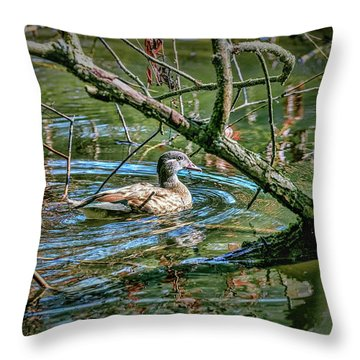 Throw Pillow featuring the photograph I Am Pritty #h9 by Leif Sohlman