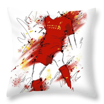 I Am Red #2 Throw Pillow