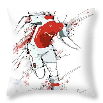 I Am Red And White Throw Pillow