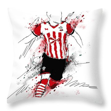 I Am Red And White Stripes Throw Pillow