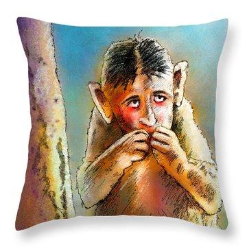 I Am So Sorry Throw Pillow by Miki De Goodaboom