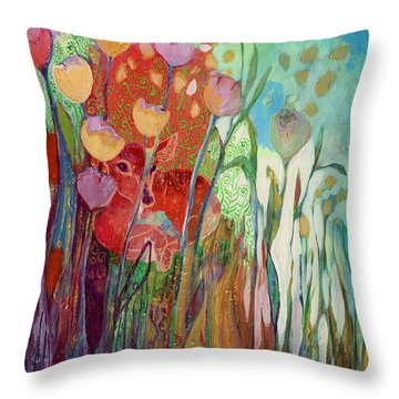 I Am The Grassy Meadow Throw Pillow