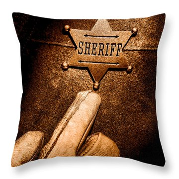 I Am The Law - Sepia Throw Pillow