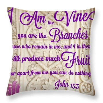 """i Am The True Grapevine, And My Throw Pillow"