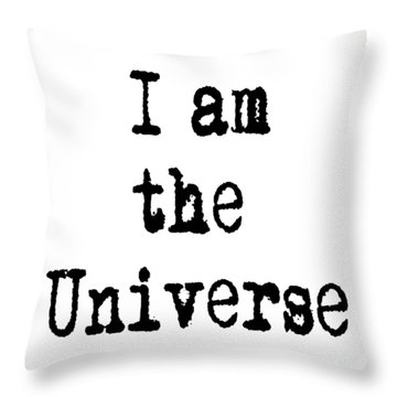 I Am The Universe Quote Prints, All Is One, Art Print Posters, Crown Chakra Throw Pillow