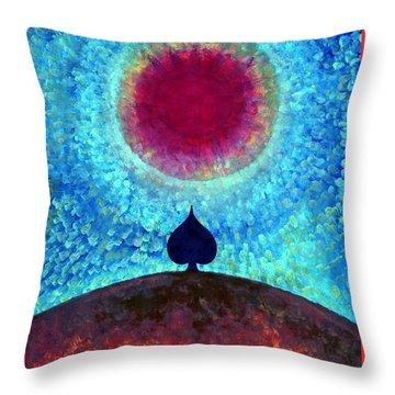 I Am Throw Pillow by Wojtek Kowalski