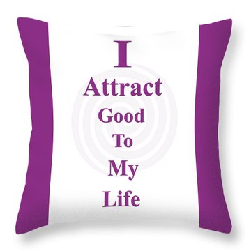 I Attract Throw Pillow