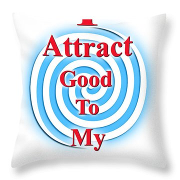 I Attract Red White Blue Throw Pillow