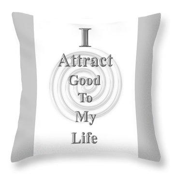 I Attract Silver Throw Pillow