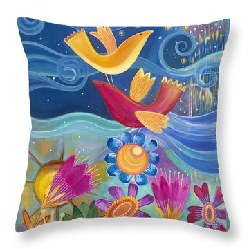 Throw Pillow featuring the painting I Believe I Can Fly by Carla Bank