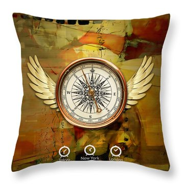 Throw Pillow featuring the mixed media I Believe I Can Soar by Marvin Blaine