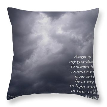 Throw Pillow featuring the photograph I Believe In Angels by Patricia L Davidson