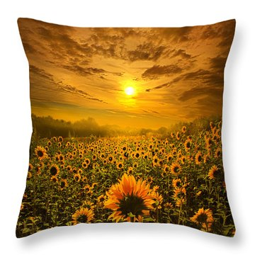 I Believe In New Beginnings Throw Pillow