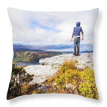 I Can Climb Mountains Throw Pillow