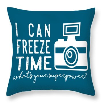 Throw Pillow featuring the photograph I Can Freeze Time by Heather Applegate