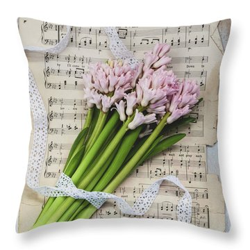 Throw Pillow featuring the photograph I Can Hear Music by Kim Hojnacki