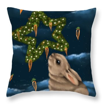 Throw Pillow featuring the painting I Can Smell The Christmas In The Air by Veronica Minozzi