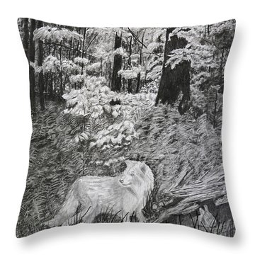 I Can't Find The Rabbit Throw Pillow