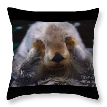 Throw Pillow featuring the photograph I Can't Watch by Nick Gustafson