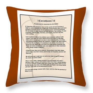 I Corinthians 13 Paraphrase Throw Pillow