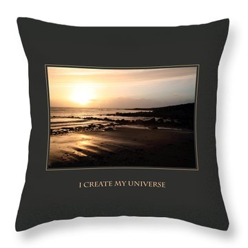 I Create My Universe Throw Pillow by Donna Corless