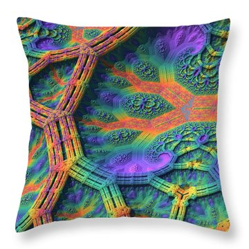 Throw Pillow featuring the digital art I Don't Do Drugs, Just Fractals by Lyle Hatch