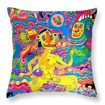 I Don't Have A Problem Throw Pillow
