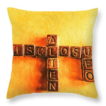 I Dont Want To Believe. I Know Throw Pillow