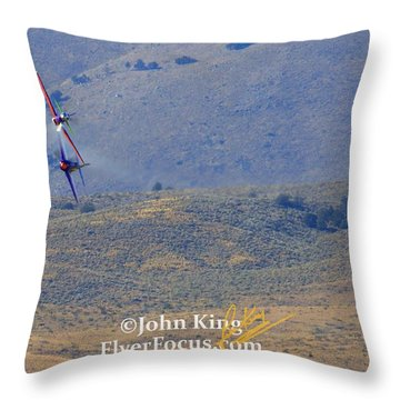 I Double Dog Dare Ya.  Rare Bear Challenges Voodoo In Sunday's Gold Unlimited Race  Throw Pillow