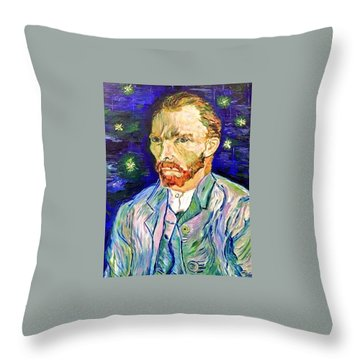 Throw Pillow featuring the painting I Dream My Painting And I Paint My Dream by Belinda Low