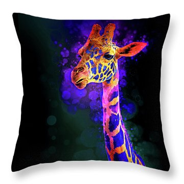 Throw Pillow featuring the photograph I Dreamt A Giraffe by James Sage