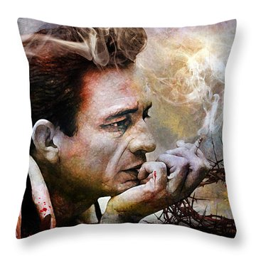 I Focus On The Pain Throw Pillow