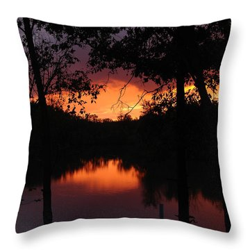 I Found Red October Throw Pillow by J R Seymour