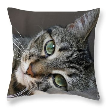 Throw Pillow featuring the photograph I Get Lost In Your Eyes by Heather King