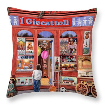 I Giocattoli Throw Pillow