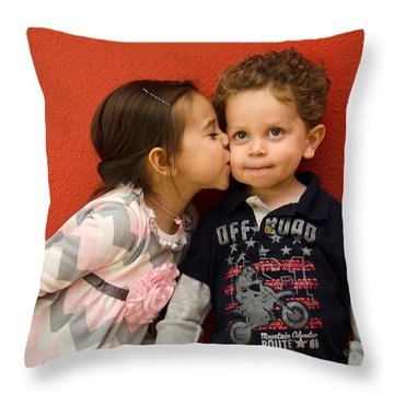 I Give You A Kiss Throw Pillow