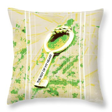 I Give You The Key Of My Heart Throw Pillow