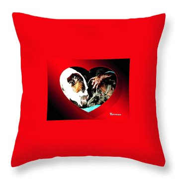 I Got You Babe Throw Pillow by Sadie Reneau