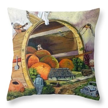 I Harvested Experience And Got Bitten Fruits Throw Pillow