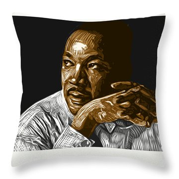 Throw Pillow featuring the digital art I Have A Dream . . . by Antonio Romero