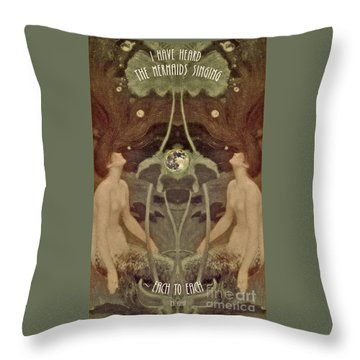 Throw Pillow featuring the painting I Have Heard The Mermaids Singing by Lora Serra