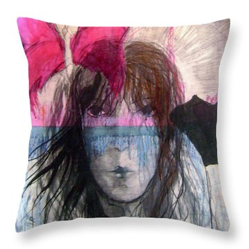 I Have In Head Confusion  Throw Pillow by Wojtek Kowalski